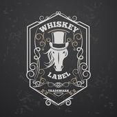 Whiskey lable — Stock Photo