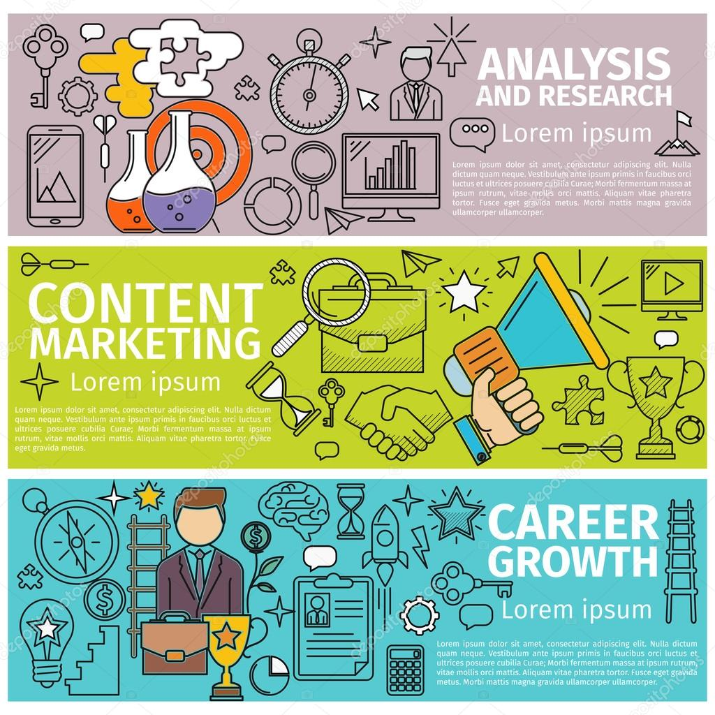 analysis marketing career stock vector copy tohey  analysis marketing career stock illustration