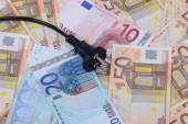 Euro Banknoten mit Stecker — Stock Photo