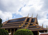 The temple roof — Stock Photo