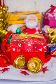 Gift box and other accessories — Stock Photo