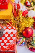 Gift box for New Year. — Stock Photo