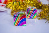 Gifts and decorations — Stock Photo
