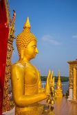 Buddha sits — Stock Photo