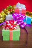 Gift box with beautiful  — Stock Photo
