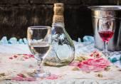 Glass beverage bottles  — Stock Photo