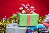 Cajas de regalo verde — Foto de Stock