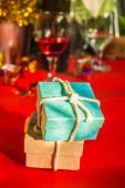 Gift box in the party. — Stock Photo