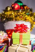 Green gift box — Stock Photo