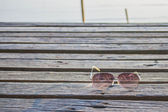 Glasses on the wooden  — Stock Photo