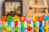 Colorful peg — Stock Photo