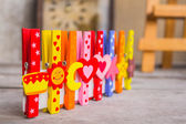 Peg and colorful  — Stock Photo