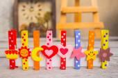 Peg colorful  — Stock Photo