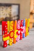 Peg multicolored  — Stock Photo