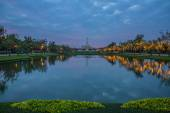 Park in evening. — Stock Photo