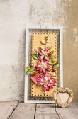 Frame and flowers  — Stock Photo