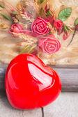 Heart shapes on floor. — Foto Stock