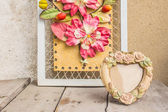 Frames on a wooden  — Stock Photo