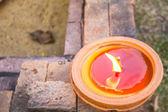 Mount candle light — Stock Photo