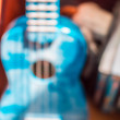 Blue ukulele — Stockfoto #71961343