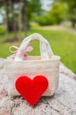 Hearts on rocky ground — Stock Photo