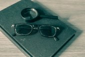 Glasses laying — Stock Photo