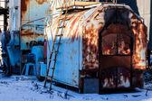 Old rusty farm — Stock Photo