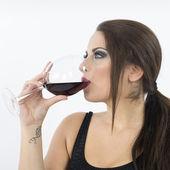 Donna con bicchiere — Zdjęcie stockowe