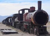 The train cemetary near Uyuni — Stock Photo