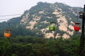 The cable way to Song Mountain — 图库照片