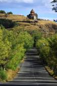 Road to the monastic complex Sevanavank — Stock Photo