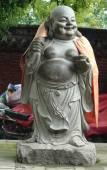 Uśmiechający się posąg Buddy — Zdjęcie stockowe