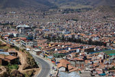 Aerial view of Cusco city — Stock Photo