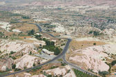 Aerial view of surroundings from Uchisar castle in Cappadocia — Stock Photo