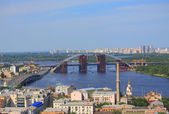 Movable bridge in Kiev, Ukraine — Stock Photo