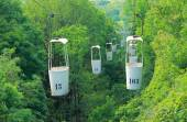 Aerial ropeway in Kharkov, Ukraine — Stock Photo