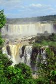 Iguazu waterfalls on the border of Argentina and Brazil — Stock Photo