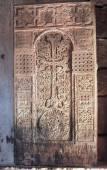 Khachkar in Noravank monastery, Armenia — Stock Photo