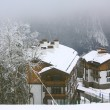 Cottages in Rosa Khutor ski resort — Stock Photo #60109415