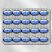 蓝色药丸 — 图库照片