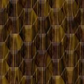 Marble - wood decor - seamless hexagon background — Stock Photo