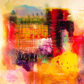 Modern abstrakt painting fine art artprint — Stock Photo