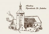 Parish Church of St. James Abenberg — Stock Vector
