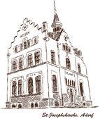 St. Joseph Church Adorf Vogtland — Vector de stock