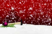 Hammer Hand Tool Snow Christmas Greeting — 图库照片