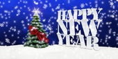 Happy New Year Christmas Winter Snow — Foto Stock