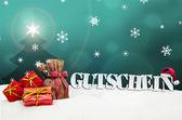 Рождество ваучер Gutschein подарки снег — Стоковое фото