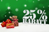 Christmas gifts 25 percent Rabatt Discount — Stock Photo