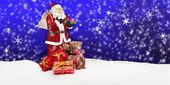 Santa claus - merry christmas — Stockfoto