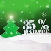 Christmas Tree 35 percent Rabatt Discount — Stock Photo